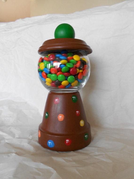 M & M Clay Pot Candy Dish
