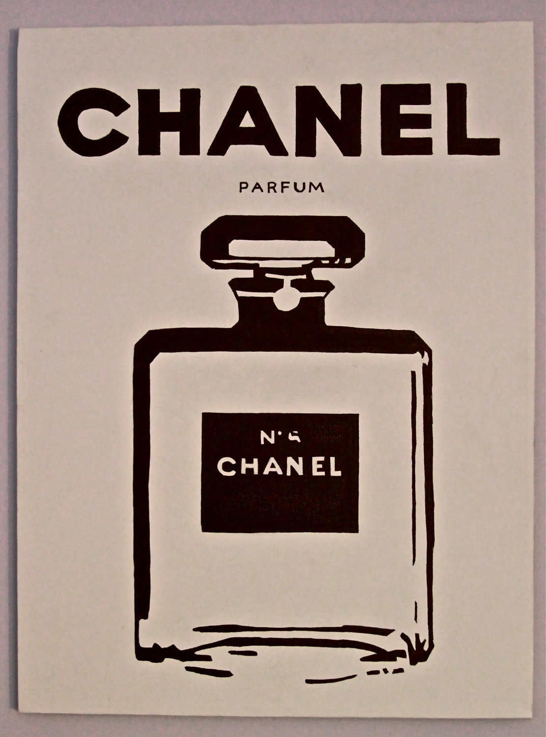 Pin Chanel Perfume Pop Art No 5 By Contrastcanvas On Etsy ...