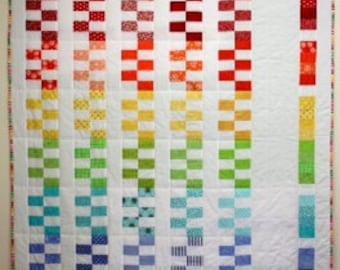 Quilt Pattern - Rainbow Steps, PDF Version, original design by Sew Well Maide