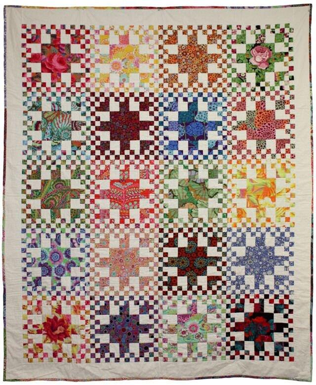 Quilt Pattern Rainbow Checks fat quarter friendly PDF
