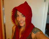 Hooded scarf with pockets- Pattern