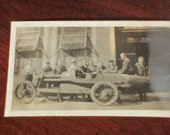 Old photo of a race car original condition