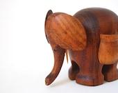 Vintage Wooden Elephant Toy or Toothpick Holder