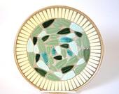 Vintage 1960s Mosaic Plate