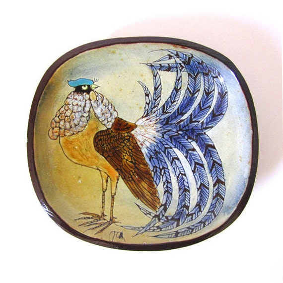 British Modernist Chelsea Pottery Plate by Joyce Morgan