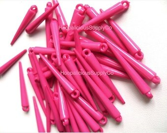 25 WATERMELON Colored Spikes- Medium Size- 34mm- See Other Listings for Other Colors Available