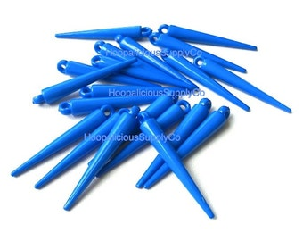 25 MED ROYAL BLUE Spike Beads with Top Loop- 34mm - Other Colors & Quantities Available- Best Quality Available
