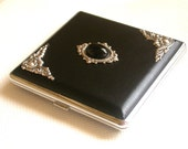 Black Onyx Cigarette Case - Smokers Accessories - Gothic Card Case