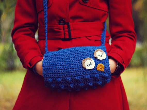 Free Crochet Pattern For Hand Muff : OWL MUFF HANDWARMER Wool Furry Crochet Autumn Fall Winter Cold