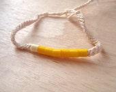 SOLDES-15% yellow friendship bracelet