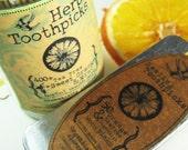 Sweet Orange, Peppermint & Tea Tree  - Organic Infused Toothpicks - Organic Mouth Care 400 Count