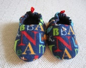 ABC baby shoes- soft sole,  reversible