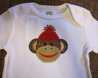 sock monkey bodysuit
