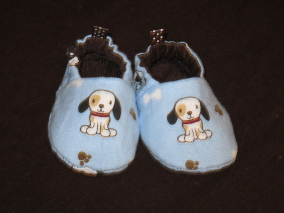 puppy baby shoes-soft sole, reversible