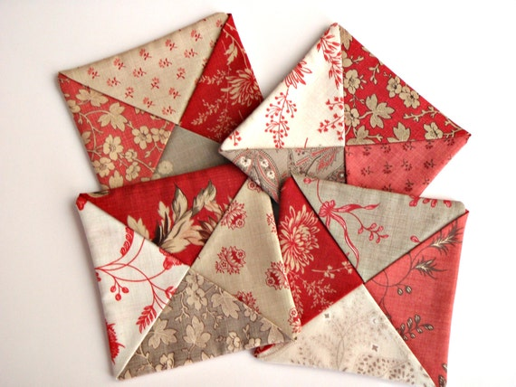 COASTERS FUN FABRIC Set of 4