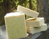 Coconut Milk Soap (Scented with spearmint and lime -  Luxury handmade soap with Shea and Cocoa Butter -  Handmade in BC, Canada