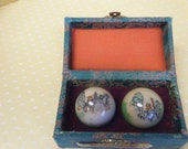 Vintage Shouxing Chinese Balls and Box