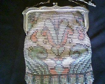 Antique Whiting & Davis Enamel mesh purse  Treasury item