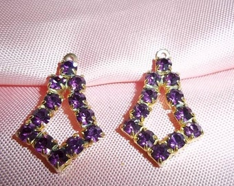 VTG Simulated Amethyst earrings