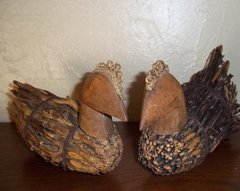 Rustic Twig Chicks, primitive, rustic farmhouse