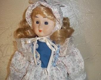 Porcelain Soft Body Doll, Treasury item