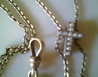 Antique Gold filled Sliding Cross Watch Chain