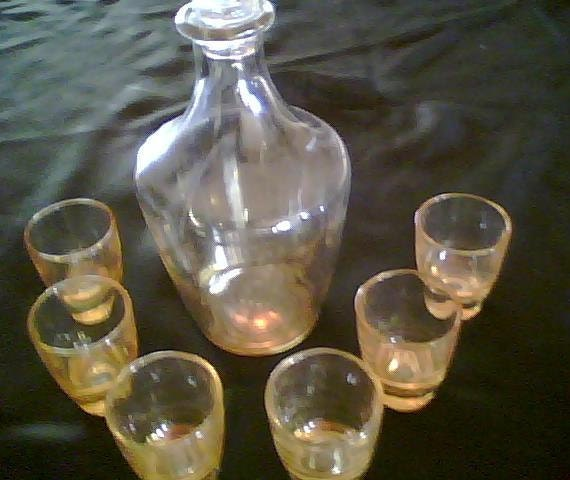 Small Decanter with Six Shot Glasses, Treasury item