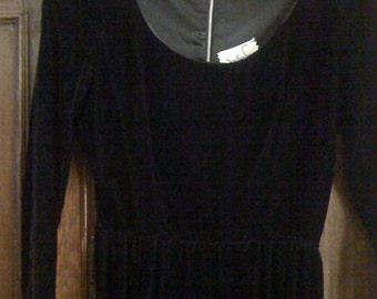 Vintage Jonathan Logan Black Velvet Dress.