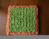 Set Of Two Coasters,  Mini Trivets 5 x 5 Inch Orange & Lime Drink Coasters, Gift Ideas, Mini Hot Mats