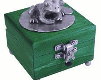 Wooden Frog Box