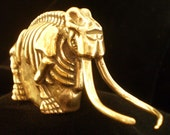 Woolly Mammoth Skeleton in Bronze Metal Alloy