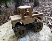 Wooden Big-Wheel Truck