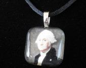 George Washington presidential portrait necklace