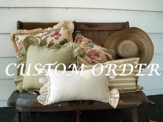 "Custom Order for Mary 60"" Burlap Sq with Brown Burlap ruffle"