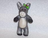 Donkey ornament, polymer clay