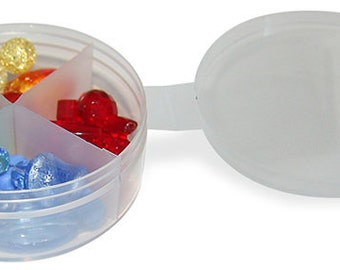500 Count Bulk Divided Shuttle cups with Tethered Lids