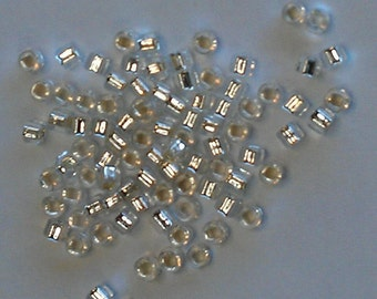 Size 8 Japanese Seed Beads Silver Lined
