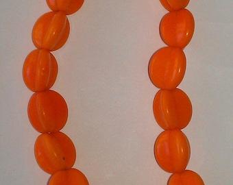 Bright Orange Vintage Beads