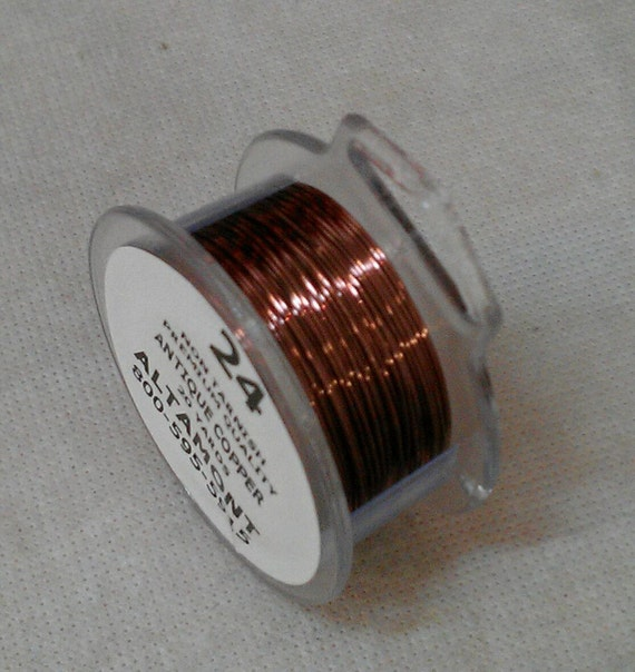 24 gage  Antique Copper Round Colored Wire