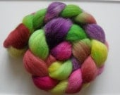 4 oz Falkland Wool Top - Foxglove