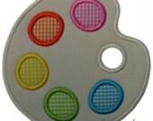 Artist Palette Applique Design (Machine Applique Embroidery Design) Instant Digital Download by Applique a Day 4x4 5x7 6x10