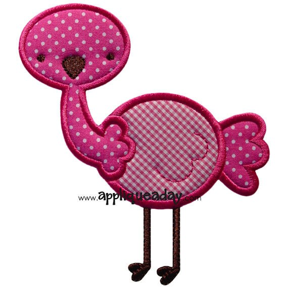 Ostrich Applique Design (Machine Applique Embroidery Design) Instant Digital Download by Applique a Day 4x4 5x7 6x10