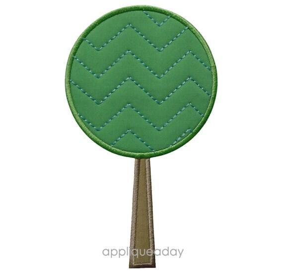 Chevron Tree Applique Design (Machine Applique Embroidery Design) Instant Digital Download by Applique a Day 4x4 5x7 6x10