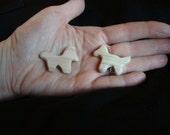 Natural miniature wooden horses