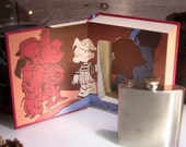 Hollow Book Safe and Whiskey Hip Flask - Dennis the Menace