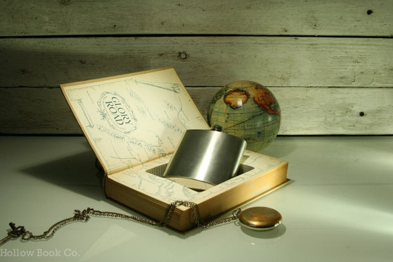 Hollow Book Safe & Secret Flask - Glory Road