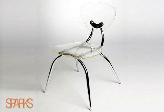 Lucite mid-century modern chair