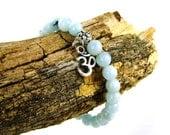 Aquamarine Energy Bracelet for Expression, Blue OM Bracelet