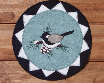 The First Snow Wool Applique Penny Mat Pattern