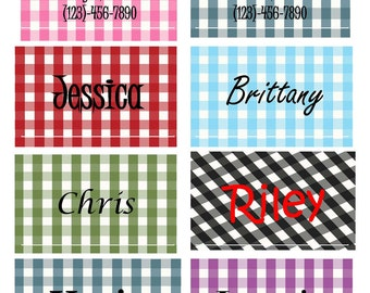 Personalized Luggage Tag-Custom Made-Set 2 of Custom Tags, Makes a Great Summer Vacation Souvenir (each tag can be different)